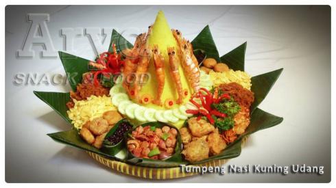 Tumpeng Nasi kuning Udang